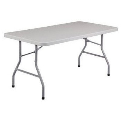 "table rectangular - 6' long x 30"" wide x 30"" high"