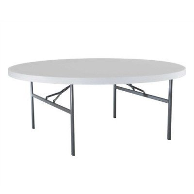 "table round - 72"" wide x 30"" high"