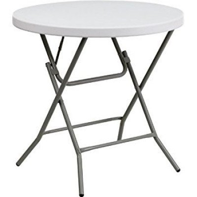 """cocktail table – round low - 32"""" – plastic"""