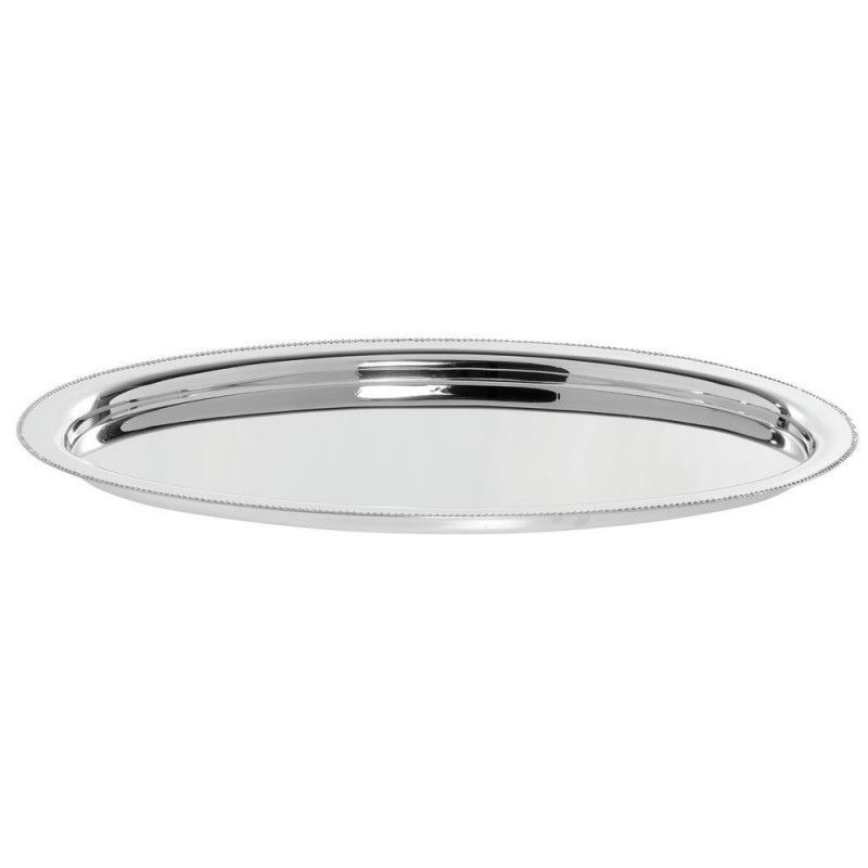 """tray - oval stainless 14"""""""