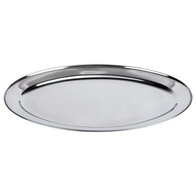 tray - oval stainless 20""