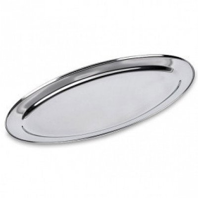tray - oval stainless 24""