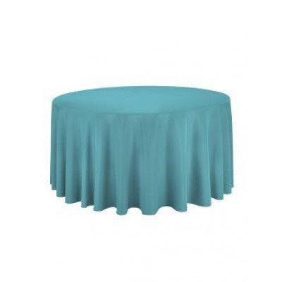 """turquoise - round tablecloth – poly- 120"""""""