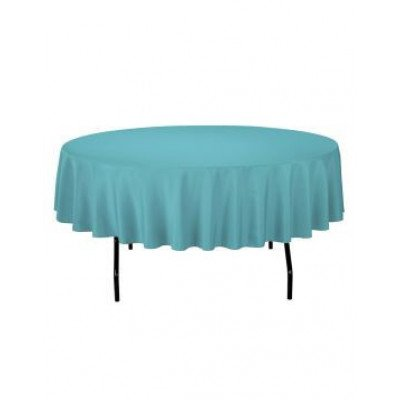 turquoise - round tablecloth – poly – 90""