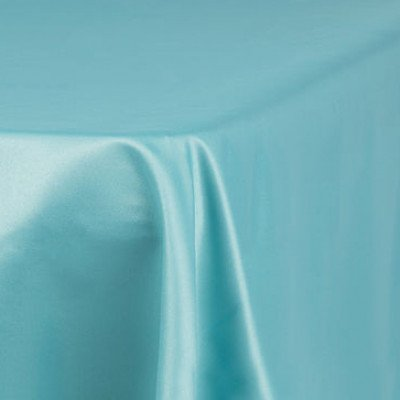 """turquoise – rectangle - tablecloth – satin – 90""""x156"""""""
