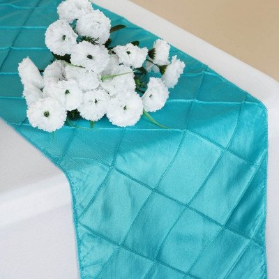 turquoise – table runner - pintuck-1
