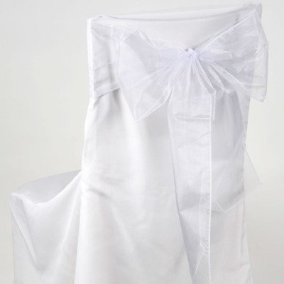 white -chair sash - organza