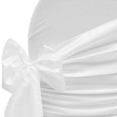 white – chair sash - taffeta crinkle
