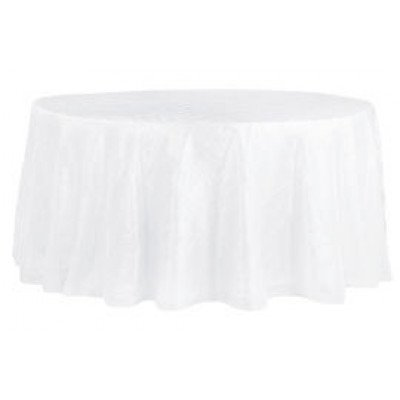 white – round - tablecloth – pintuck - 120""