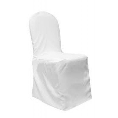 white – chair cover banquet - polyester