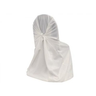 white - chair cover universal – polyester