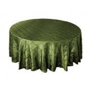 """Willow Green - Round - Tablecloth – Pintuck - 120"""""""