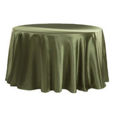 """willow green - round – tablecloth - satin 120"""""""