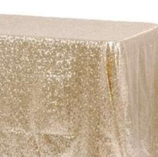 god / champagne table linen