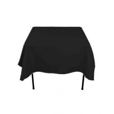 "black - square tablecloth – poly – 70""x70"""