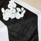 Black - Table Runner - Pintuck