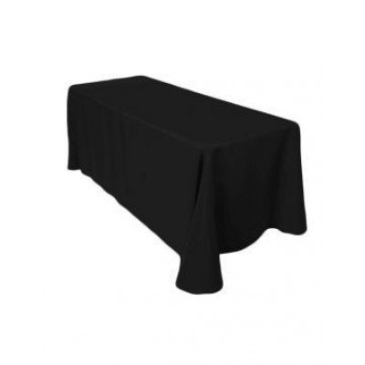 "black – rectangle tablecloth - poly- 90""x156"""