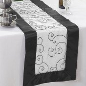 Black – Table Runner - Embroider
