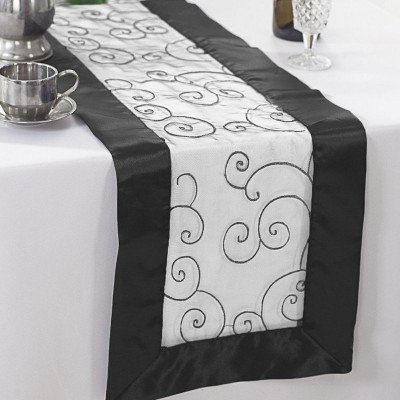 black – table runner - embroider-1