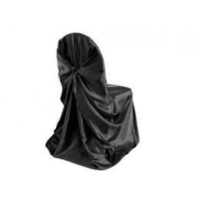 black – chair cover - universal - satin