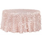Blush – Round – Tablecloth - Petal -120""