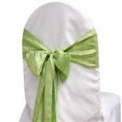 Apple Green – Chair Sash - Taffeta Crinkle