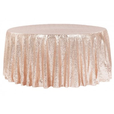 """blush – round tablecloth – sequins - 120"""""""