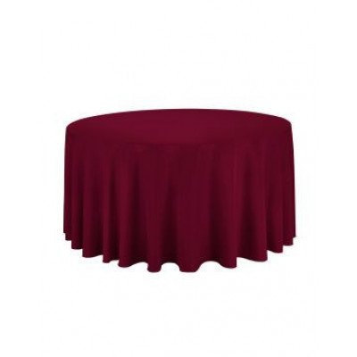"""burgundy - round tablecloth – poly – 120"""""""