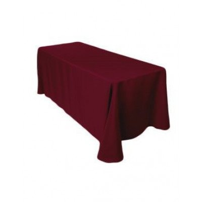 "burgundy - rectangle tablecloth – poly - 90""x132"""