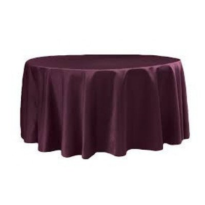 """burgundy – round - tablecloth - lamour – 120"""""""