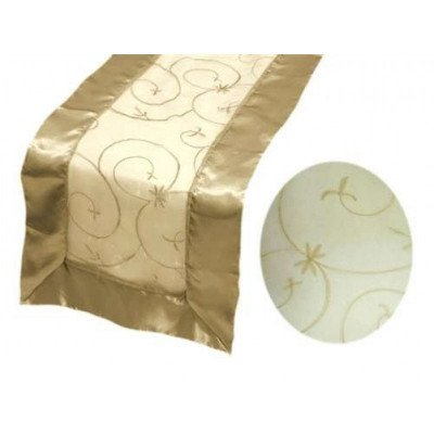 champagne – table runner - embroider