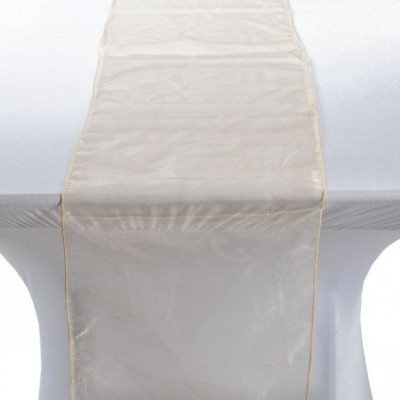 champagne – table runner - organza-1