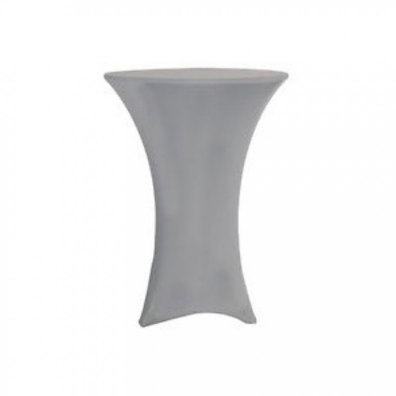 Silver- cocktail table cover - spandex