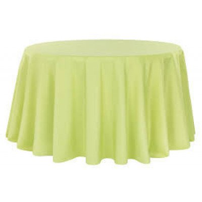 """apple green – round - tablecloth - lamour – 120"""""""