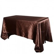"Chocolate – Rectangle - Tablecloth – Satin – 90""x156"""
