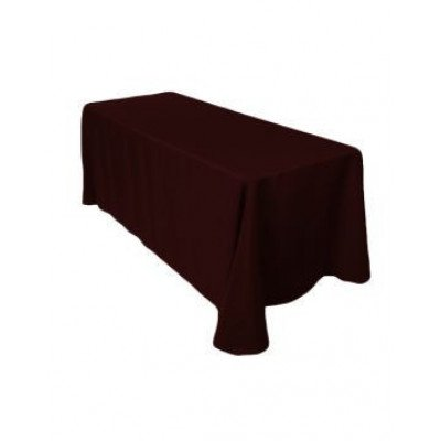 """chocolate – rectangle tablecloth - poly- 90""""x156"""""""