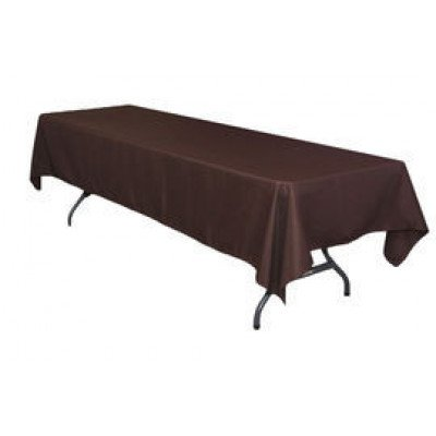 """chocolate – rectangle tablecloth – poly - 50""""x120"""""""