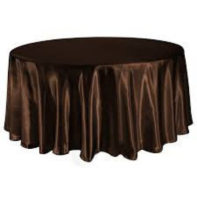 chocolate – round - tablecloth - satin 120""