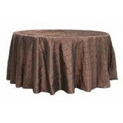 """Chocolate – Round - Tablecloth – Pintuck - 120"""""""
