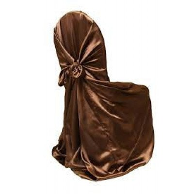 chocolate – chair cover universal - satin