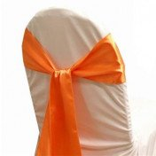 Coral Orange – Chair Sash - Satin