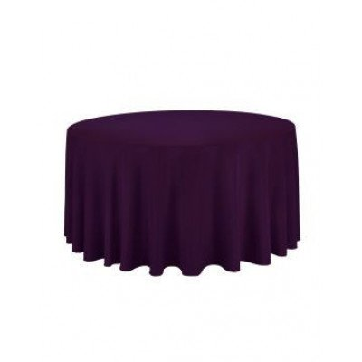 eggplant - round tablecloth – poly – 120""