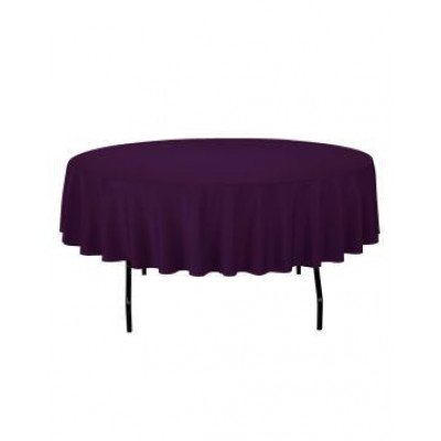 """eggplant - round tablecloth – poly – 90"""""""