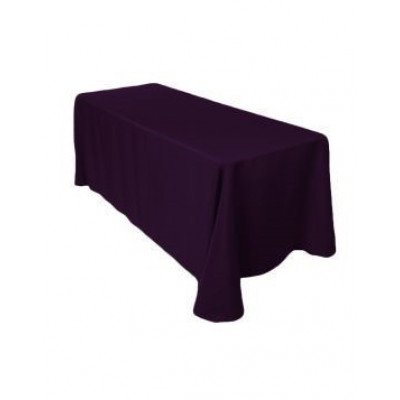 "eggplant - rectangle tablecloth – poly - 90""x132"""