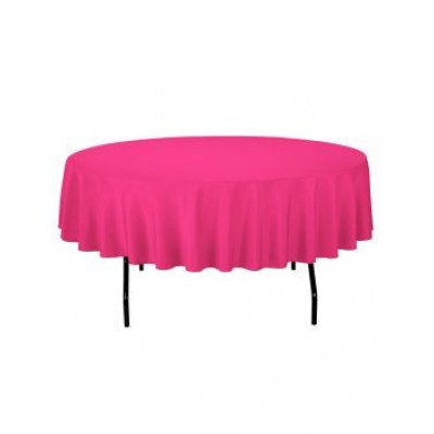 fuchsia - round tablecloth – poly – 90""