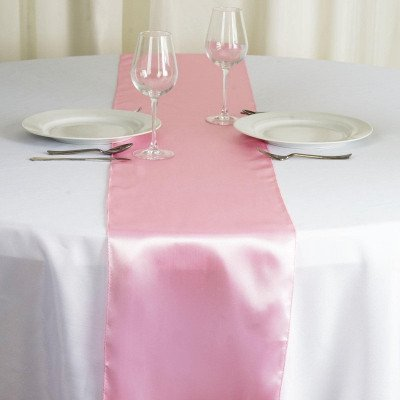 pink – table runner - satin