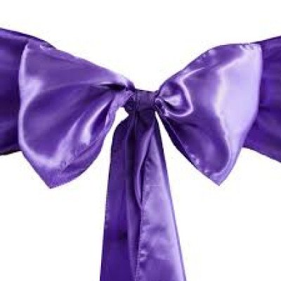 purple – chair sash - satin