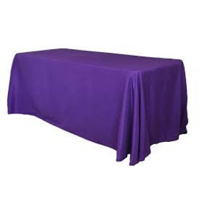 "purple – rectangle tablecloth - poly- 90""x156"""