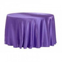 """Purple – Round - Tablecloth - Lamour – 120"""""""