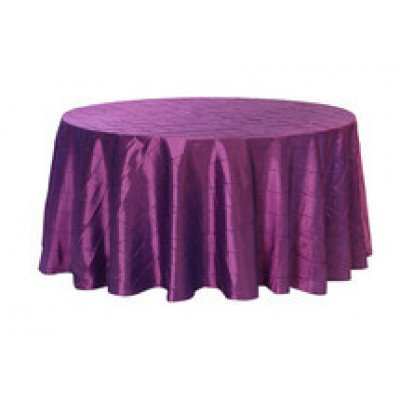 purple – round - tablecloth – pintuck - 120""